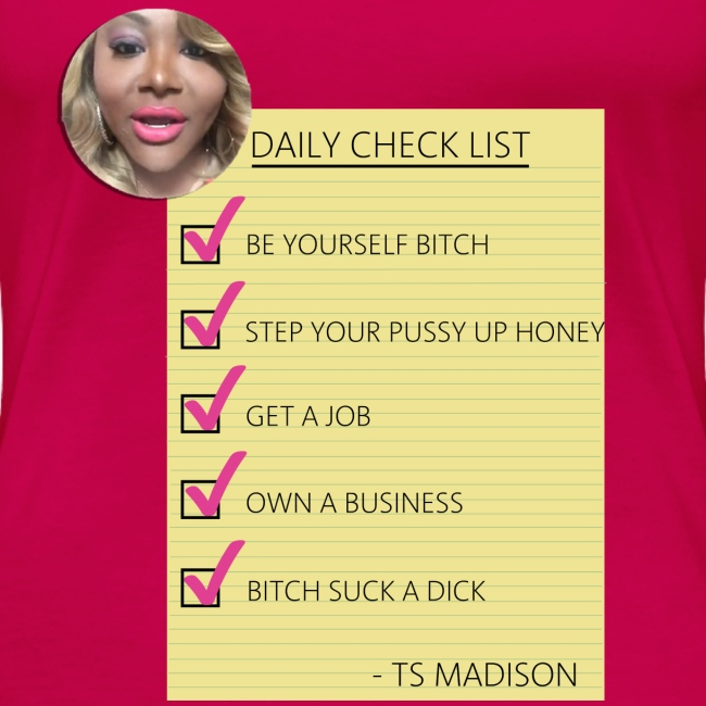 Daily Checklist by TS Madison