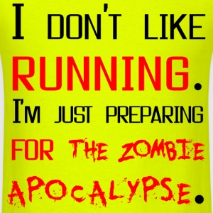 Running for apocalypse - Men's T-Shirt