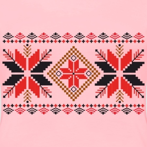 Folk Weave Pattern - Women's Premium T-Shirt