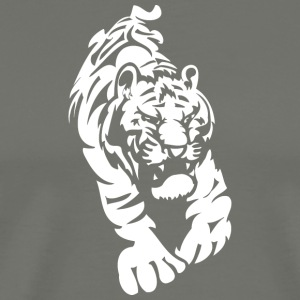angry_tiger_white - Men's Premium T-Shirt