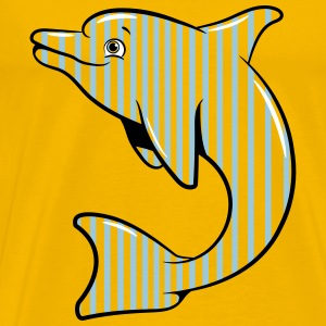 Delfin cute sweet children striped T-Shirts - Men's Premium T-Shirt
