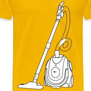 Vacuum Cleaner Line Art - Men's Premium T-Shirt