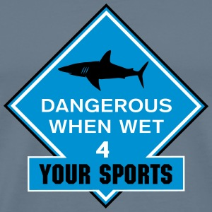 dangerous when wet_vec_3 us T-Shirts - Men's Premium T-Shirt