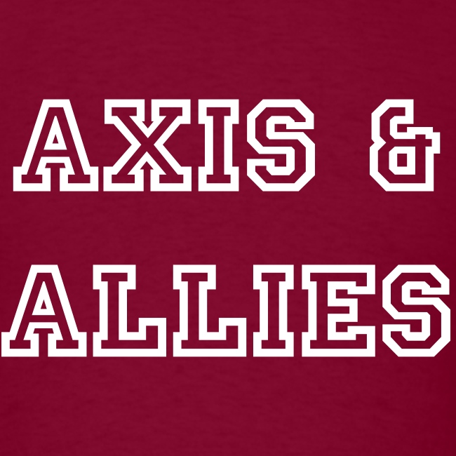 Axis & Allies Text Tee - College Text