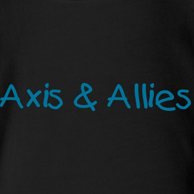 Axis & Allies Baby One Piece with Kid Text