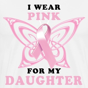 I Wear Pink for Daughter T-Shirts - Men's Premium T-Shirt
