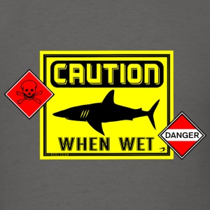 caution when wet danger us T-Shirts - Men's T-Shirt