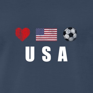 United States Football American Soccer T-shirt - Men's Premium T-Shirt