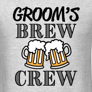 Groom's Brew Crew groomsman bachelor party shirt - Men's T-Shirt