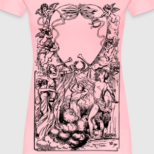 Many Cupids Heart Frame - Women's Premium T-Shirt