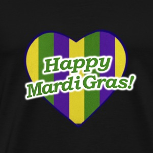 Happy Mardi Gras Logo - Men's Premium T-Shirt