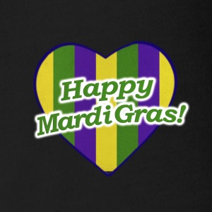 Happy Mardi Gras Logo - Short Sleeve Baby Bodysuit