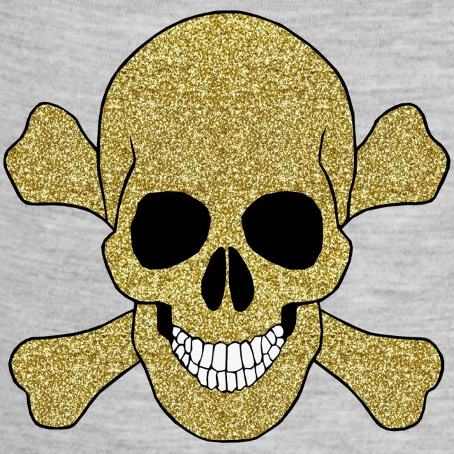 Atteestude Gifts | Gold Glitter Skull And Crossbones Baby One Piece ...