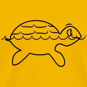 Turtle water sweet children love T-Shirts - Men's Premium T-Shirt