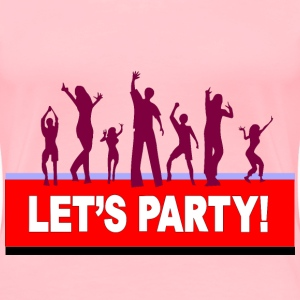 lets party dance coloured - Women's Premium T-Shirt
