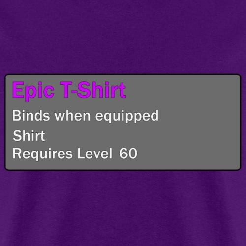 Epic T-shirt Level 60
