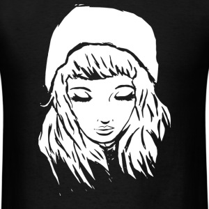 Beanie Hat Eyes Closed - Men's T-Shirt