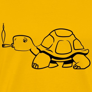 Turtle kiffen joint T-Shirts - Men's Premium T-Shirt