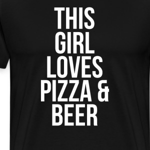 This Girl Loves Pizza & Beer Party Animal T-Shirt T-Shirts - Men's Premium T-Shirt