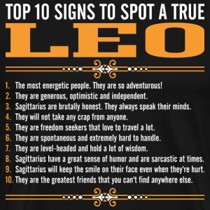 Top 10 Signs To Spot A True Leo T-Shirts - Men's Premium T-Shirt