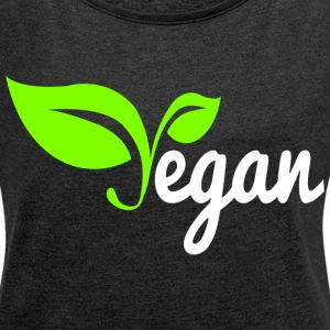 Vegan T-Shirts - Women´s Rolled Sleeve Boxy T-Shirt