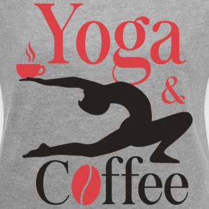 Yoga and Coffee T-Shirts - Women's Roll Cuff T-Shirt