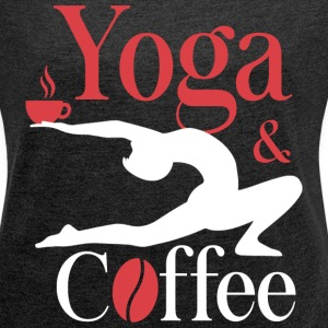 Yoga and Coffee T-Shirts - Women´s Rolled Sleeve Boxy T-Shirt