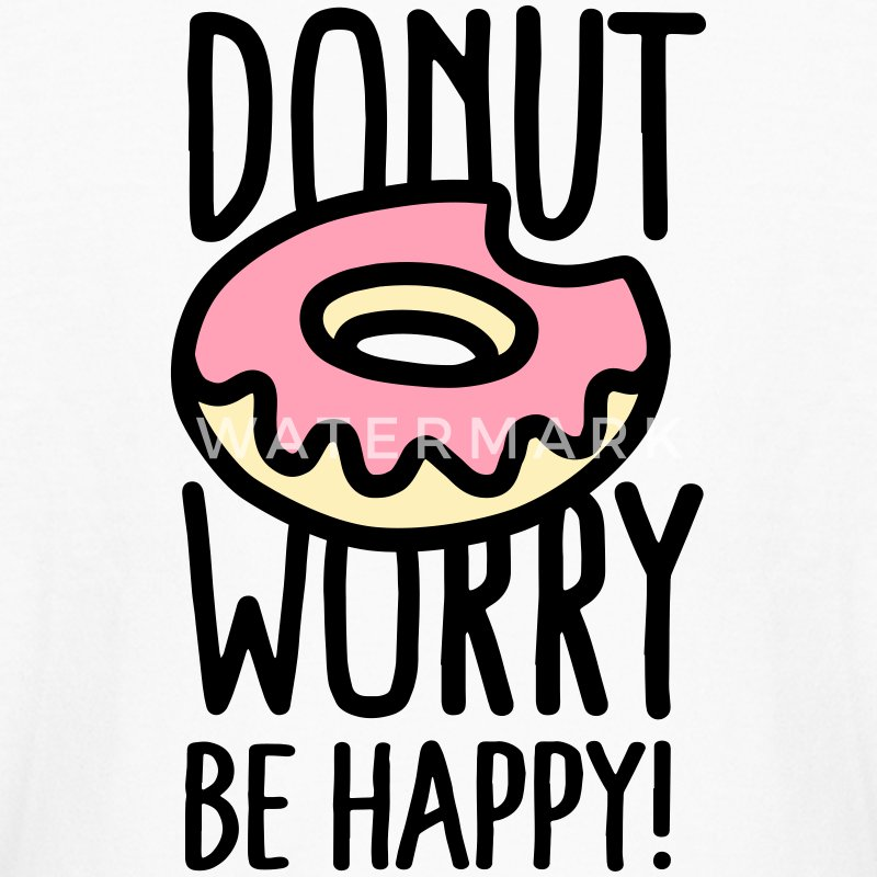 Donut worry Be happy! US Kids' Shirts - Kids' Long Sleeve T-Shirt