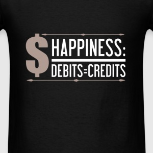 Accountant - Happiness: Debits = Credits - Men's T-Shirt