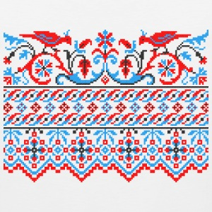 Two colorful cross-stitch birds Wedding engagement Sportswear - Men's Premium Tank