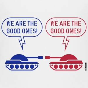 We are the good ones! (Tanks / War / Caricature) Kids' Shirts - Kids' Premium T-Shirt