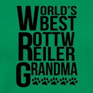 World's Best Rottweiler Grandma - Men's Premium T-Shirt