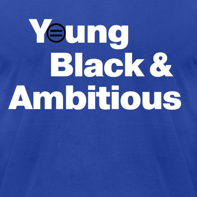 Men's YBA TShirt (Blue and White)