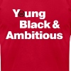 Men's YBA TShirt (Red and White) - Men's Fine Jersey T-Shirt