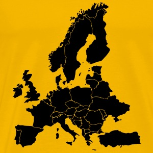 Map Of Europe - Men's Premium T-Shirt