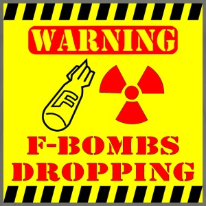 Warning F-Bombs Dropping  - Men's Premium T-Shirt