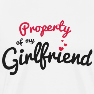 Propriety of my girlfirend T-Shirts - Men's Premium T-Shirt