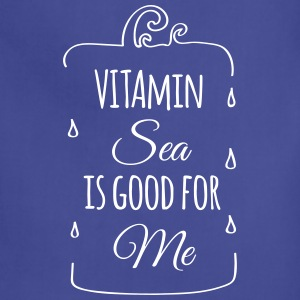 Vitamin sea is good for me ocean beach holiday C Aprons - Adjustable Apron