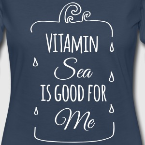 Vitamin sea is good for me ocean beach holiday C Long Sleeve Shirts - Women's Premium Long Sleeve T-Shirt