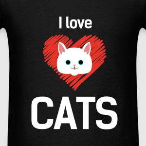 Cats - I love cats - Men's T-Shirt