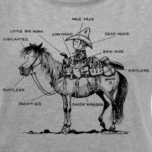 Thelwell Learning Western Riding - Women's Roll Cuff T-Shirt
