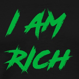 I AM RICH (WASTE OF MONEY) - Men's Premium T-Shirt
