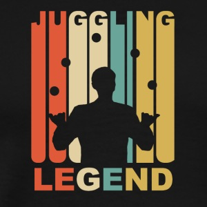 Vintage Juggling Legend Graphic - Men's Premium T-Shirt