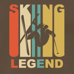 Vintage Skiing Legend Graphic - Men's Premium T-Shirt