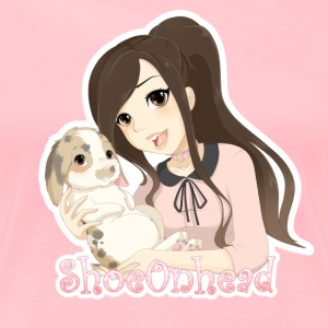 Shoe & Ollie by @SpookyPandaGirl (extra cute pink) - Women's Premium T-Shirt
