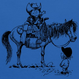 Thelwell Cowboy With Riding Pupil - Kids' Hoodie
