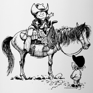 Thelwell Cowboy With Riding Pupil - Contrast Coffee Mug