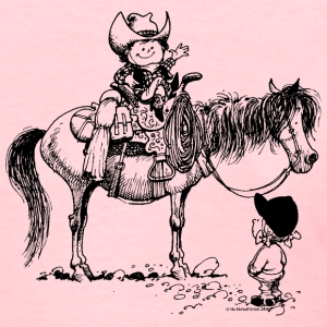 Thelwell Cowboy With Riding Pupil - Women's T-Shirt