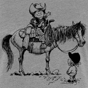 Thelwell Cowboy With Riding Pupil - Women's Premium T-Shirt