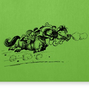 Thelwell Bolting Horse And Cowboy - Tote Bag